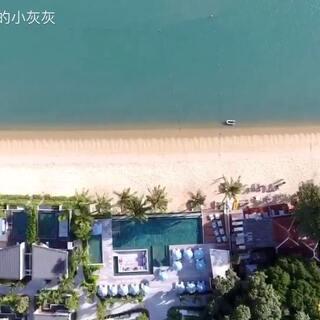 泰国苏梅岛,绝佳旅游度假胜地,这次用航拍视角,带你看看不一样的大海和蓝天白云!#旅行##航拍#