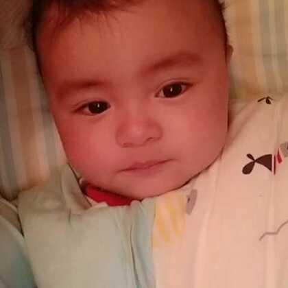 #宝宝##精选#六个月23天的宝宝!晚安吧!😘😘😘