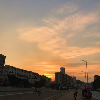 广州今天26度 ☀️🌿暖冬 我喜欢 #落日黄昏##日志#