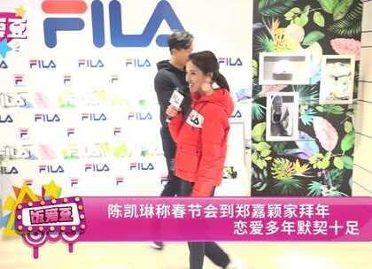 陈凯琳称春节会到郑嘉颖家拜年 恋爱多年默契十足