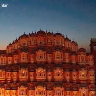 印度粉色城之风宫.王公的妃子们窥看市井生活的宫墙.#印度##旅行##india##旅游#hawa mahal##jaipur##斋普尔##pinkcity#