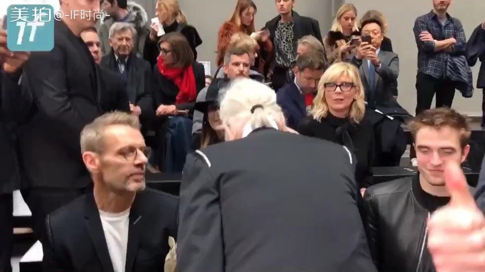 老佛爷和Dior 女装设计师Maria和暮光男Robert Pattinson 相聚~都来捧场~