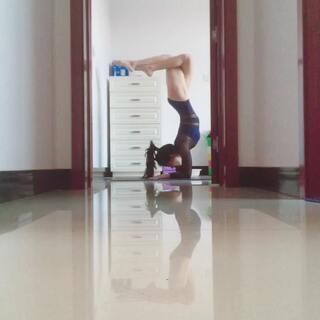 #运动##一言不合就倒立#瑜伽的我从不会放弃,生活也该如此