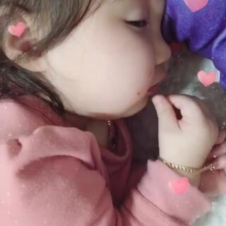 #宝宝#吃着呢睡了呢