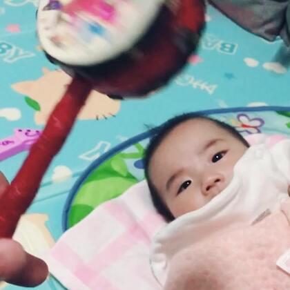 国家一级拨浪鼓演奏家(我)与最强和声(椰子)…#宝宝#