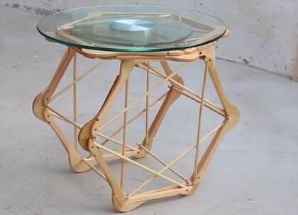 用木衣服撑做个桌子,很有想法啊#DIY##生活DIY教程##手工#