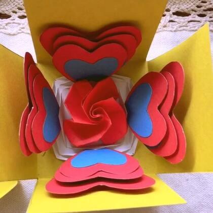 爱心爆炸盒,非常简单的爱心爆炸盒,趁着放假给它做起来吧!#手工#上期中奖名单是@花之语g @梨涡儿萌妹 @penbeat-空白🍃 看到跟我联系哦!