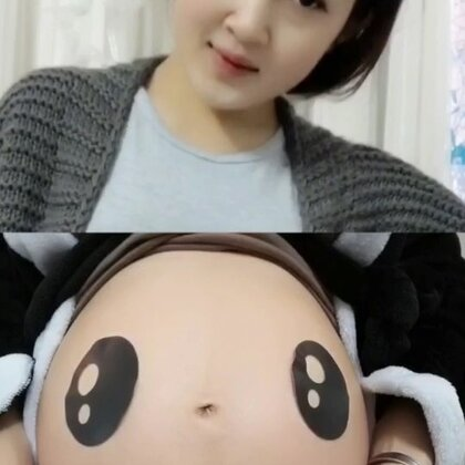 #精选##孕妇日常#@美拍小助手 后面熊猫肚子的照片是用家里的反光板哈哈。哎呦喂,去年过年去云南玩,今年就在家里等着小狗宝出生🐣😂,你们都在家度过呢还是出去度呢,说实话出去是真爽☺☺