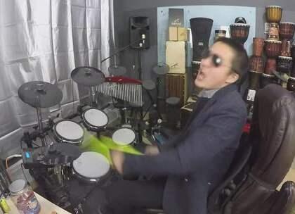 #U乐国际娱乐##架子鼓##爵士鼓# 架子鼓 把酒倒满 凯文先生 爵士鼓