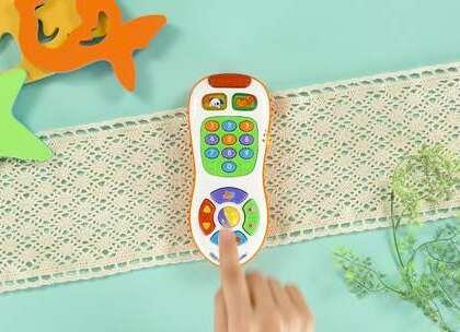 12-36个月玩具:多彩宝宝遥控器,让宝宝边玩边认颜色学数字,益智又好玩。#宝宝##育儿# @美拍小助手 贝贝粒,让育儿充满欢笑。
