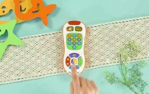 【贝贝粒视频美拍】12-36个月玩具:多彩宝宝遥控器...