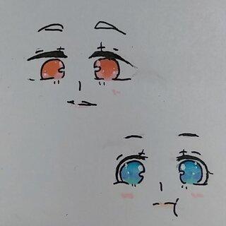 马克笔手绘眼睛