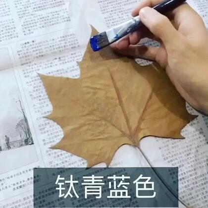 #生活百科##手工#在树叶上作画 一片星空超级美~👉🏻 http://www.meipai.com/media/952339757?uid=1455197397