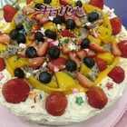 #美食##家常菜##生日快乐#今天是老妈生日,亲手为老妈做的生日蛋糕,祝老妈生日快乐,福寿安康!👑