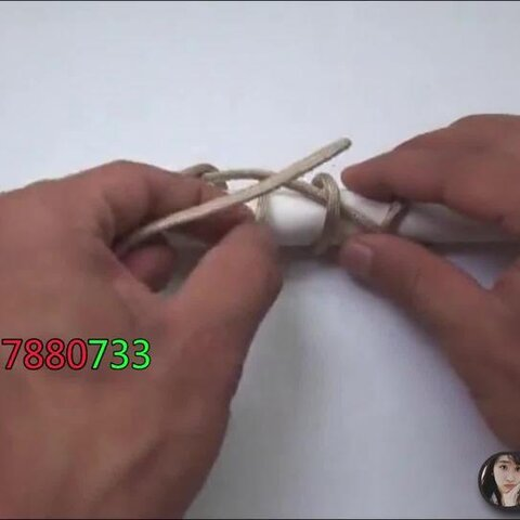 中国结之手工编绳 教你制作个性球形钥匙挂链!