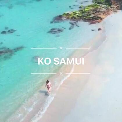 ✨🐷先森第一次用航拍无人机帮我拍视频,好酷呀!这里的海真美😍#航拍##旅行##苏梅岛#