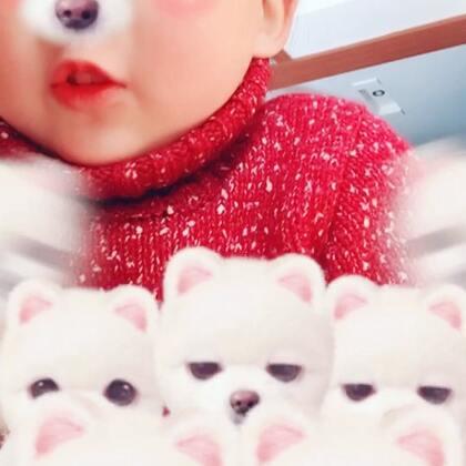 #狗年暖暖舞#跳跳宝贝㊗大家狗年吉祥🐶2018好运连连🤗给叔叔阿姨哥哥姐姐拜个早年#宝宝##过年洗脑歌#