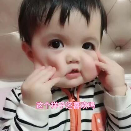 #宝宝##精选#自己做鬼脸儿逗妈妈开心😃
