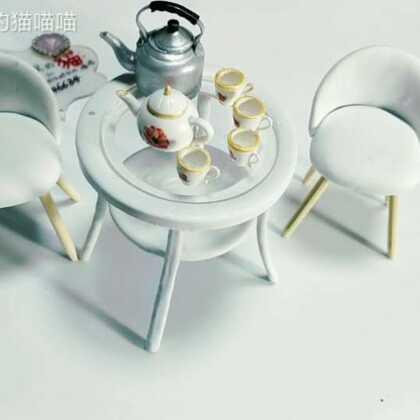 #手工##软陶手作##迷你世界#给娃娃做一套家具吧