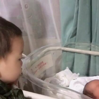 12个月的我见到12天的弟弟#宝宝#