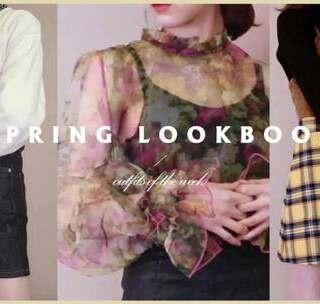 【我要上热门】春季穿搭 Spring LookBook~ 马上就到春季了~先给大家参考一下[可爱] #lookbook#穿搭#