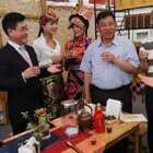 #跟著強哥逛台灣#兩岸民俗演出在南投 四川的祝酒歌