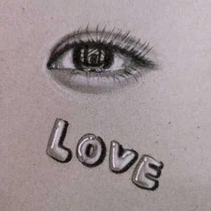 #精选##教你画##素描#@小冰 @美拍小助手 教你画love很简单吧!学会的留言哦!