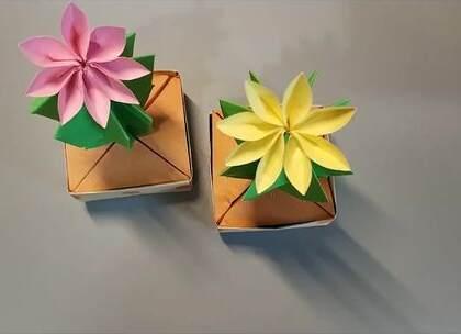 既然总是养不活,那就折一个仙人球盆栽吧,简单易学,仿真又好看,BGM:小半,#手工##diy##折纸#