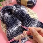 水波纹围巾教程-3#手工##我要上热门##毛线编织#@美拍小助手
