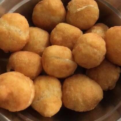 #吃秀##潇岩家#昨天在姥姥家炸的汤圆,老好吃了,提前过十五了😂😂