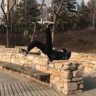 后天开学 寒假练得最嗨的一次 天一暖和就是有进步#跑酷训练##美拍运动季#