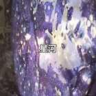 #佛系少女##手工##自制史莱姆#特别喜欢的颜色 两种珠光粉加黑色挑出来的