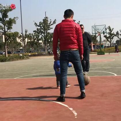 #春暖花开#和爸爸一起打篮球、
