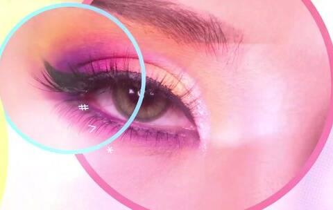 【大马马马克美拍】#美妆#一个落日霓虹妆,用紫色和...