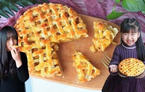 【宝贝的搞笑妈咪美拍】【苹果派】好吃的苹果加上酥脆的...