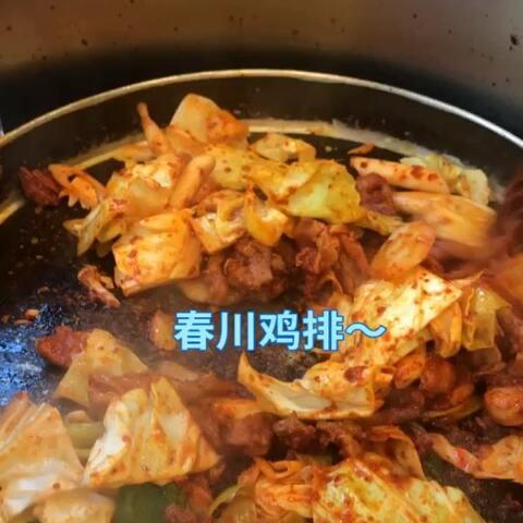 【婷婷在韩生活~~^^美拍】晚饭春川鸡排~~ 还有安东炖鸡...