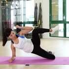 只要三招!就能简单学会!侧平板提膝!快速瘦大腿!#运动##健身##健身日记#