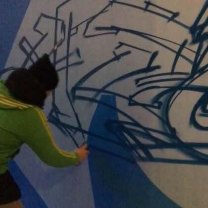 #涂鸦##graffiti##画画#「街头文化节2.0」Day1俄罗斯涂手安德烈字体涂鸦。