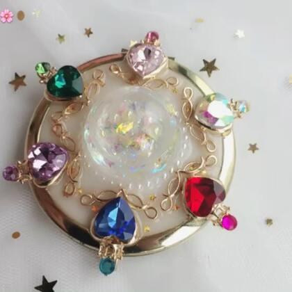 #uv滴胶#滴胶小镜子系列❤️流沙镜子制作教程。非常简单,有喜欢的宝宝可以尝试制作一下#手工#