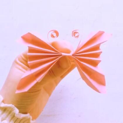 简单蝴蝶折纸,看一眼就能学会哦!#精选##手工#