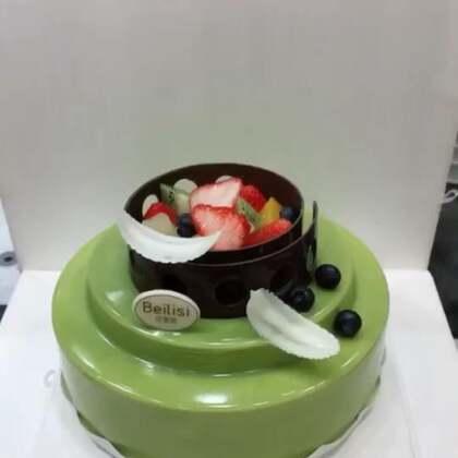 抹茶淋面蛋糕❤️#美食##甜品#