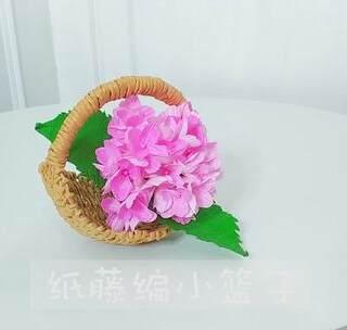 纸藤莲花教程步骤图