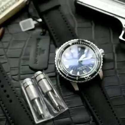 宝珀蓝色五十噚 蓝宝石圈口紫色镀膜,超强夜光,45mm 搭配折叠扣赠送一条针扣表带及换带工具 ZF出品