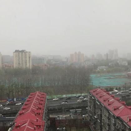 北京今天下大雪了!!!四月了啊天呐好冷😢😢