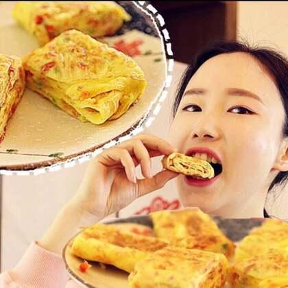 你吃过绿壳鸡蛋嘛?🙄一个蛋竟然打出了2个蛋黄🍳明天早餐就这么吃~#美食##吃秀##厚蛋烧#