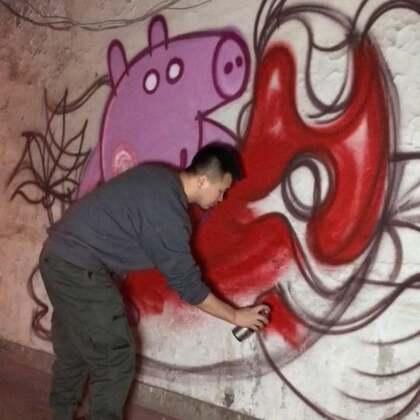#涂鸦#中国风涂鸦,正不正经就不知道了,想要掌声🙋