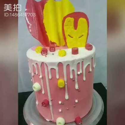 滴落蛋糕制作,装饰是用巧克力做的,#美食##蛋糕##甜品#,