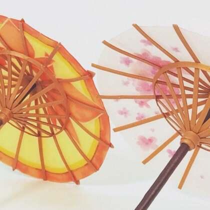 美美的软陶古风油纸伞#手工#古风系列的你们还喜欢什么🤔