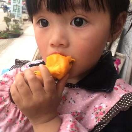 #宝宝#来吃芒果啦!