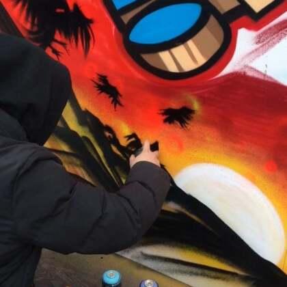 『街头文化节2.0』新角度,涂鸦墙全貌。#涂鸦##graffiti#